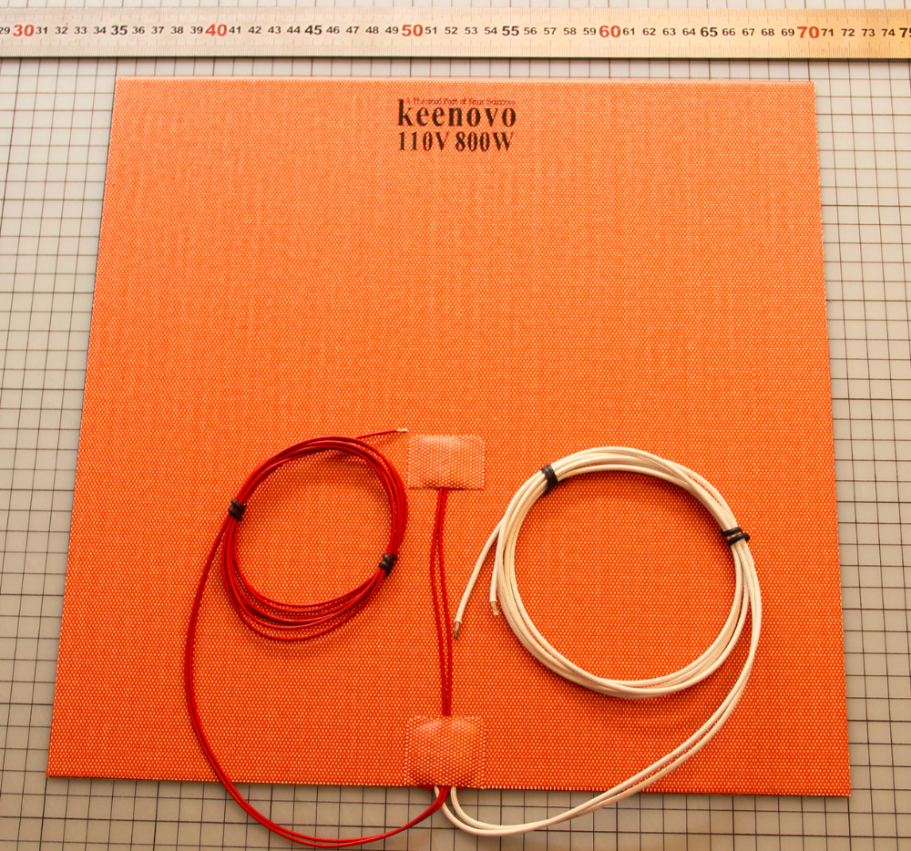 350X350mm 800W 110V w NTC 100K Thermistor Keenovo Silicone Heater 3D Printer Heater Heatbed Large Plate