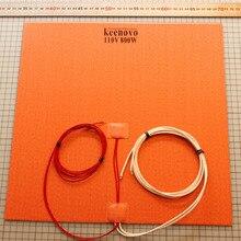 350X350 мм 800 Вт@ 110 В, w/NTC 100K Термистор, Keenovo силиконовый нагреватель 3D-принтер нагреватель, нагревательный коврик с большой пластиной