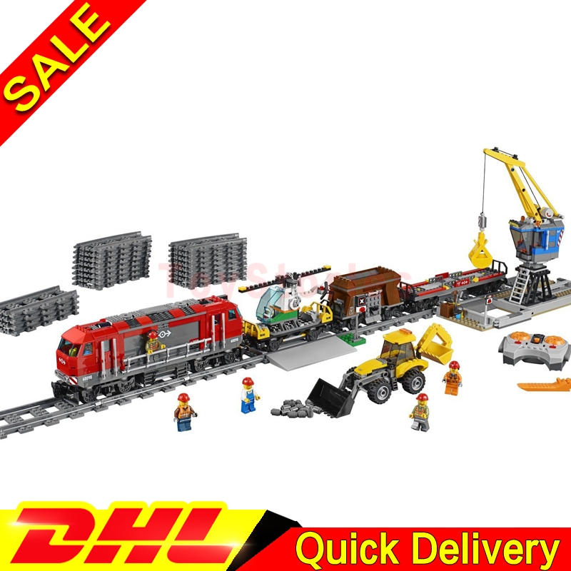 Lepin 02009 Genuine City Series The Heavy-haul Train 60098 Building Blocks Bricks Educational legoings Toys As Christmas Gift the new jjrc1001 lepin city construction series building blocks diy christmas gift for kid legoe city winter christmas hut toy