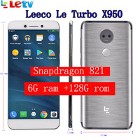 Original Letv LeEco 6G ram 128G Rom X950 FDD 4G Cell Phone 5.5 Inch Snapdragon 821 16MP 2camera Dolby pk le pro 3 le max 2
