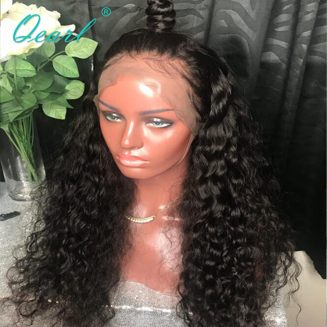 90729d048 Qearl 150% Thick Glueless Full Lace Wigs For Women Deep Wave Remy Malaysian  Soft Full Lace Human Hair Wigs Pre-Plucked Baby Hair