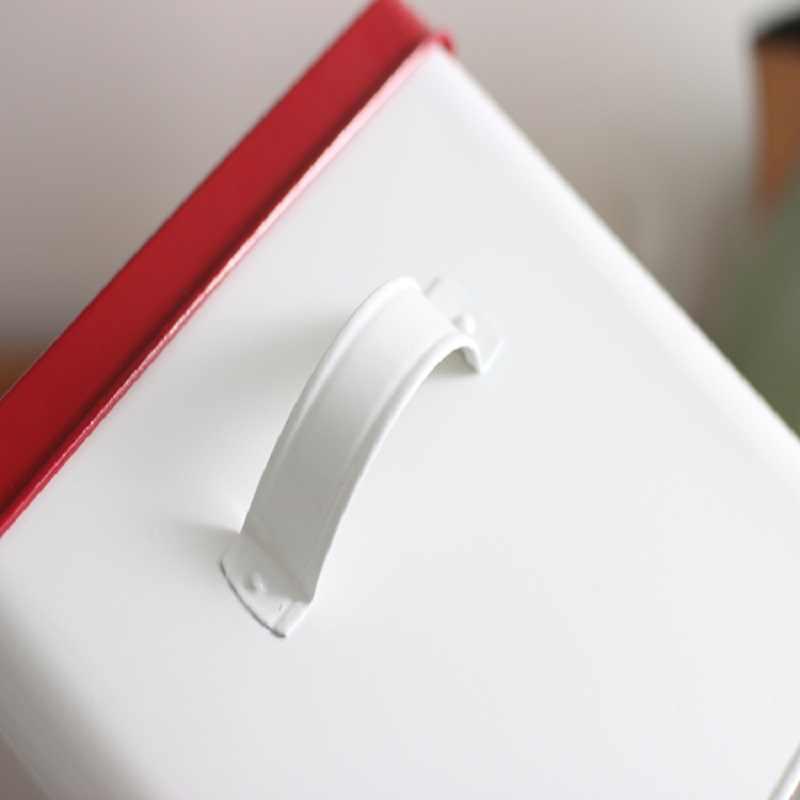 1 قطعة صندوق دواء جميل المنزل الطوارئ تخزين خزان جيد الحديد رشاقته غطاء مربع الغذاء هدية صناديق أدوات مطبخ المنزلية