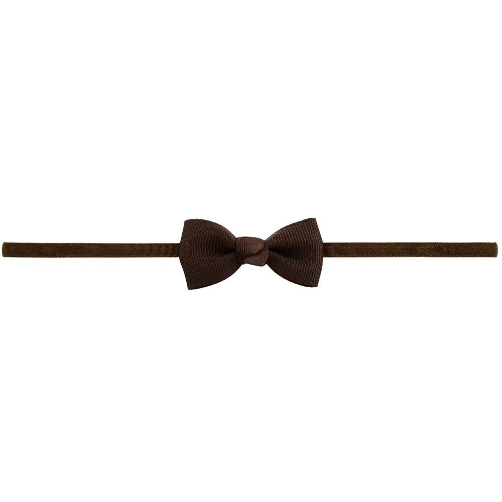 Повязка на голову для маленьких девочек; аксессуары для волос для младенцев; тканевый галстук с бантом; головной убор; Тиара; подарок для малышей; повязка на голову с лентой для новорожденных - Цвет: 3