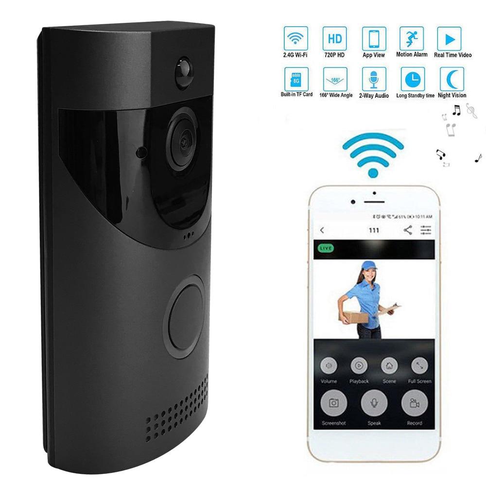 Smart Wireless WiFi Security Waterproof DoorBell Smart Video Door Phone Visual Remote Home Monitoring Night Vision Cloud Storage