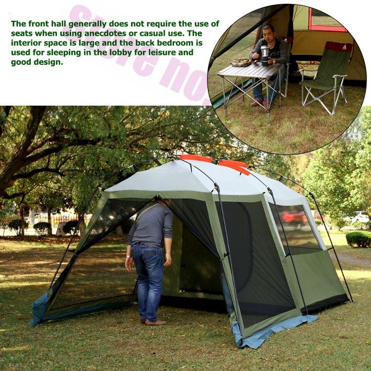 Août luxe 1 chambre 1 salon 5 6 8 personne UV imperméable randonnée conduite voyage plage fête famille Camping extérieur tente - 6