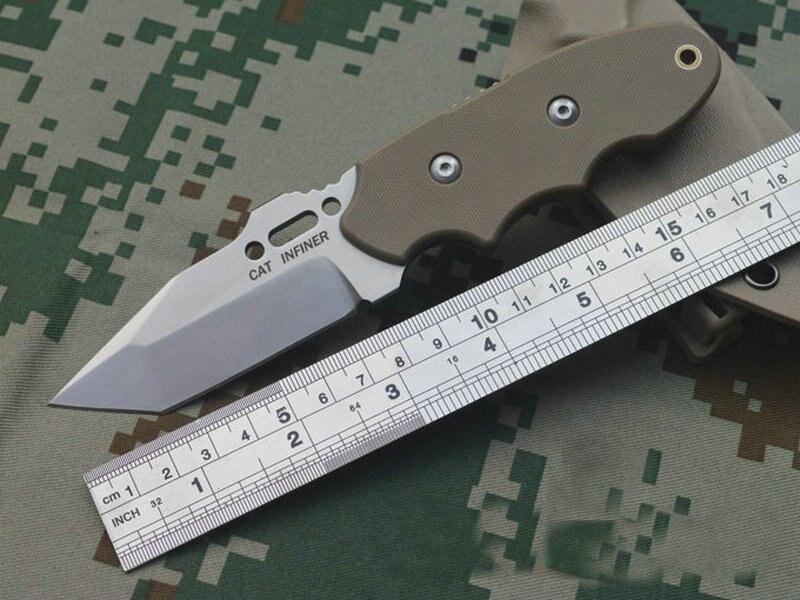 TRSKT INFINER KAT Pocket Vaste Mes Camping Tool Survival Outdoor Messen DC53 Staal G10 Handvat Met Kydex Schede Freeship - 2