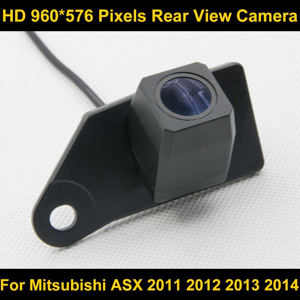 PAL HD 960*576 Pixels haute définition De Voiture Parking vue Arrière caméra pour Mitsubishi ASX 2011 2012 2013 2014 Voiture Étanche caméra