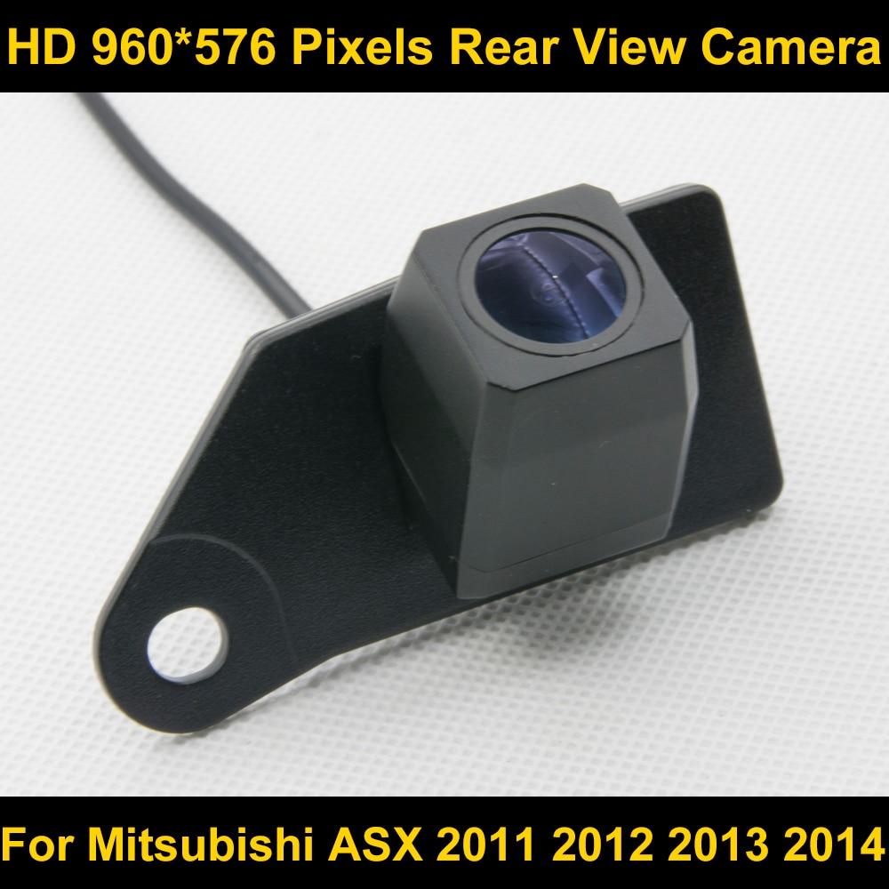 PAL HD 960*576 píxeles de alta definición cámara de visión trasera para Mitsubishi ASX 2011 2012 2013 2014 cámara impermeable del coche