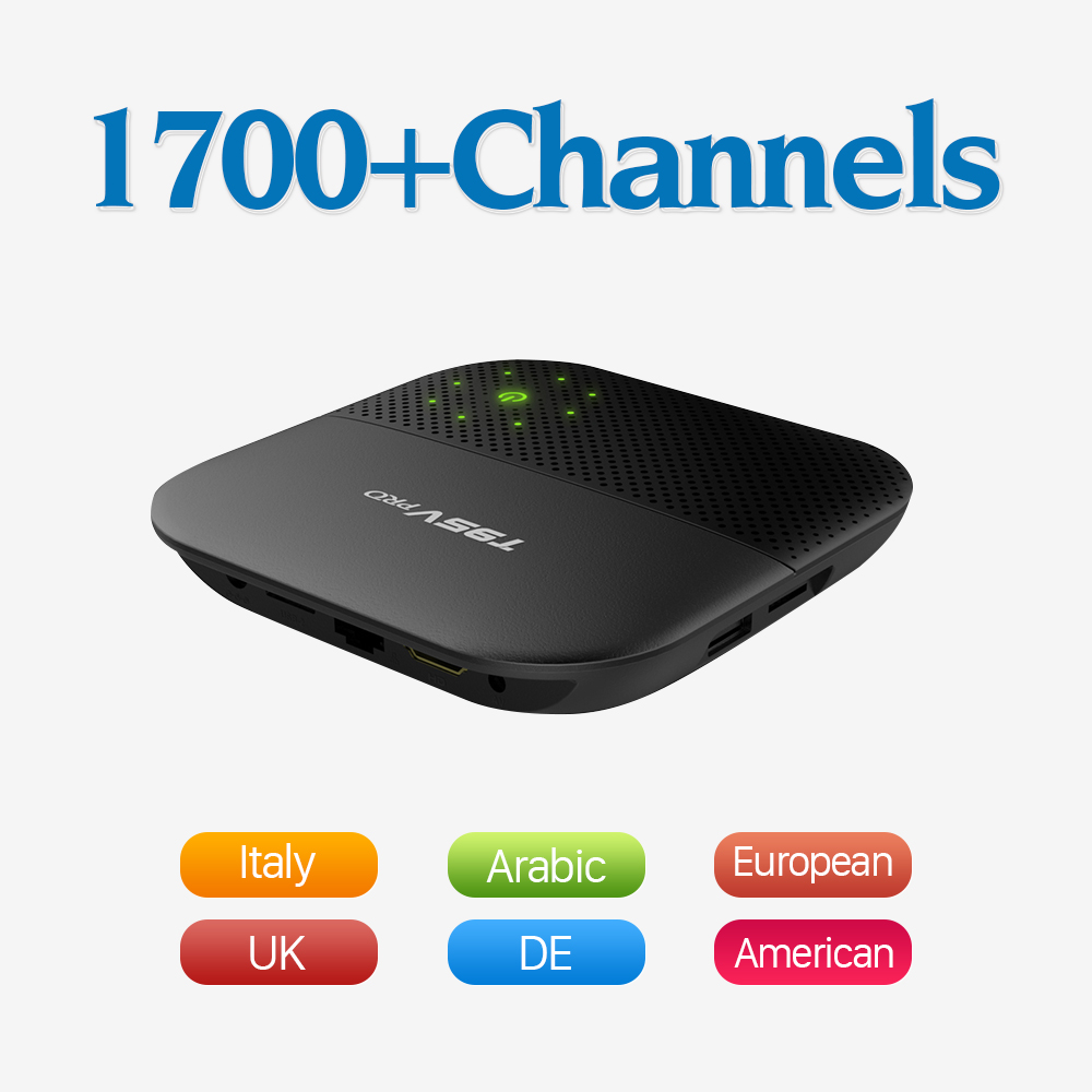 Dalletektv Android 6.0 Smart Set Top TV Box 4K WIFI IPTV Media Player 1700 Full Europe Iptv Channels French Italy Germany Sweden