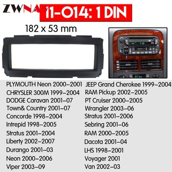 Car DVD Player frame For 1999-2004 Jeep Grand Cherokee 1DIN Auto Radio Multimedia NAVI fascia image