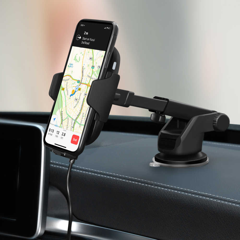 10W Qi Mobil Charger Nirkabel untuk iPhone X X Samsung S10 S9 Xiao Mi Mi Otomatis Menjepit Nirkabel Cepat pengisian Mobil Pemegang Telepon