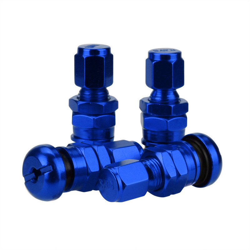 2017 Hot New Arrival Car-styling Durable Set Bolt-in Aluminum Car Tubeless Wheel Tire Valve Stems With Dust Caps
