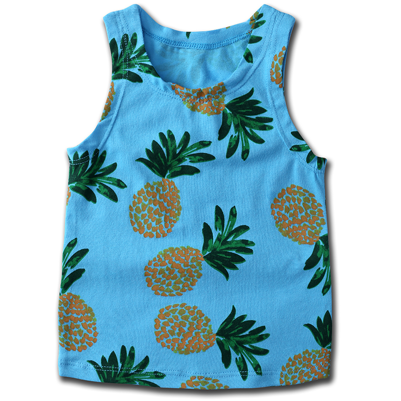 Trend Mark New 2019 Baby Boys Girls Sleeve Fruit Stars Cotton Childrens Clothing Bebe T Vest Kikikids Boys T-shirt Zx280 New Varieties Are Introduced One After Another Animal