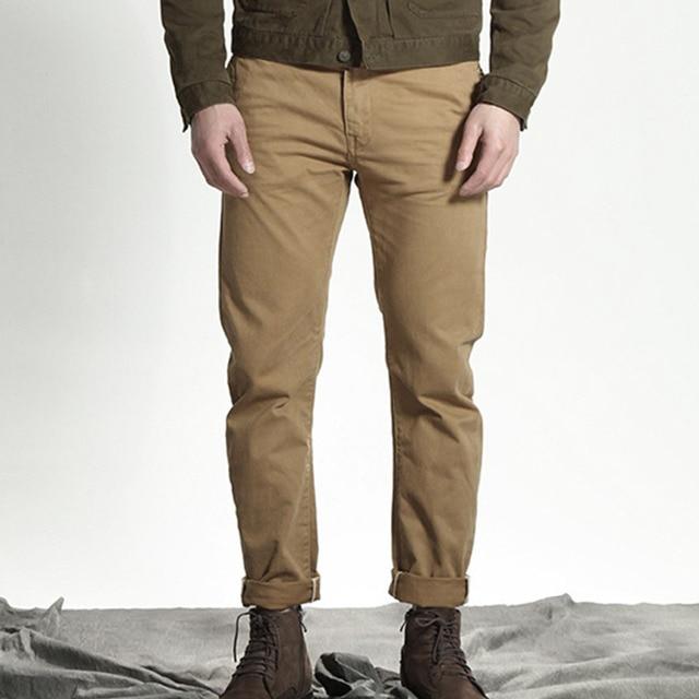 600fd1d198 Cotton Khaki Long Cargo Pants Military Style Trousers Men Askeri Autumn  Winter Work Clothes Streetwear Casual