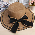 2016 Big Bow Design Sun Hat Woman Summer Outdoor UV Protection Brimmed Sun Hat Summer Hats for Lady