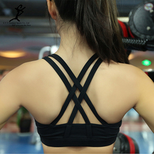 Women Sports Running Bra New Shakeproof Gym And Fitness Push Up Padded Underwear Hot Quick Dry Yoga Workout Crop Tops