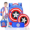Capitán América Bolsos de Escuela Niños Estudiantes de Primaria Bolsa Mochila Mochilas Niños Mochilas Mochila Kids Los Vengadores Compuesto