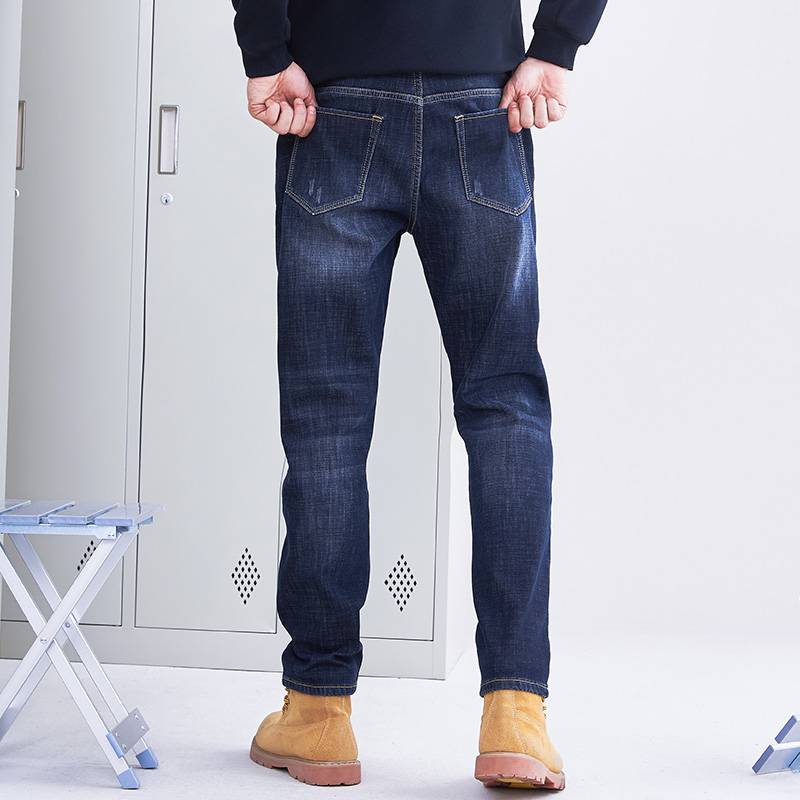 Pioneer Camp thick fleece warm jean men brand clothing autumn winter black denim pants male quality solid trousers ANZ710001 Men Men's Bottoms Men's Clothings Men's Jeans cb5feb1b7314637725a2e7: ANZ710002|ANZ803160|ANZ803162|ANZ803163|ANZ803164