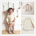Ins hot-selling 2016 autumn winter girls knitted top sweaters baby girl clothes girls clothing bebe kikikids vetement enfant