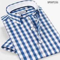 Smart Five Brand Men Shirt Short Sleeve Casual Patterns Plaid Shirts For Men Slim Fit 2017