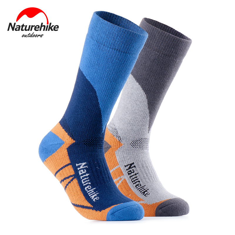 NatureHike NH15A015-W Unisex Outdoor Sports Running Jogging Camping Hiking Trekking Crew Socks Moisture Wicking Cushion