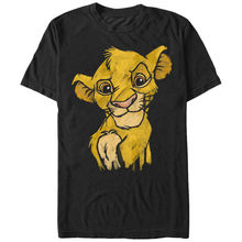 Lion King Simba Smirk Mens Graphic T Shirt