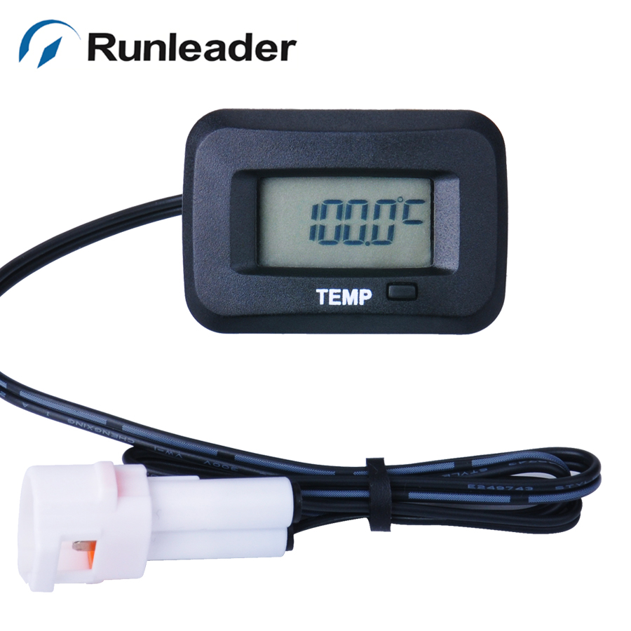 Rl Tm006 With Ts002 Pt100 20 250 Celsius Degree Digital Water Temperature Sensor Oil Temp Meter Thermometer In Instruments From Automobiles