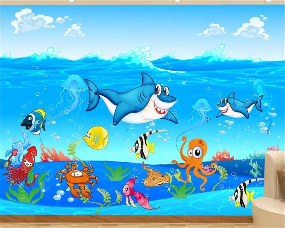 beibehang Custom wallpaper for kids room 3D cartoon ...