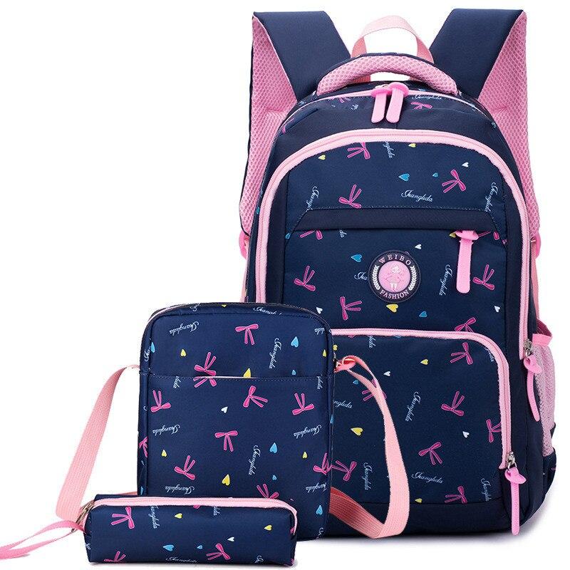 Girls School Bags Set Orthopedic Princess Schoolbags Children Backpack Girl Primary Bookbag Kids Mochila Infantil