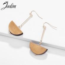 JOOLIM Semi Circle Wooden Drop Earring Dangle