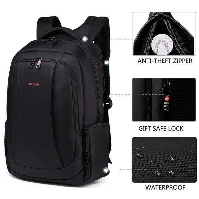 Tigernu 15.6inch Mini Anti theft Laptop Backpack Male Waterproof  Men's Backpacks Bag Women's Casual School Backpacks for teens 3