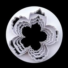 Bigger Peony Petals Cutter, 4pcs/set Gum Paste Flowers Cake Decorating Cutter Fondant Mold Sugar Tools
