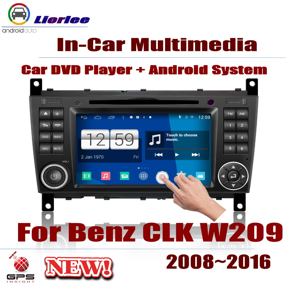 For Mercedes Benz <font><b>CLK</b></font> <font><b>W209</b></font> 2008~2016 Car Android Player DVD GPS Navigation System HD Screen <font><b>Radio</b></font> Stereo Integrated Multimedia image