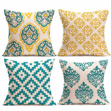 2019 Brand New 4PC Pillowcase Square Flax pillow Cushion Bed Pillow Cover Pillowcase high quality stylish floral girl pattern square shape flax pillowcase without pillow inner