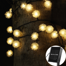 Solar String Fairy Lights 5 M 20LED 8m 60led Waterproof Power for Outdoor Gardens Homes Christmas Party