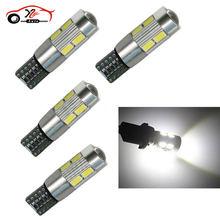 4 pçs carro automóvel led t10 194 w5w canbus 10 smd 5630 5730 lâmpadas canbus estacionamento nevoeiro luzes branco 6000k dc12v novo