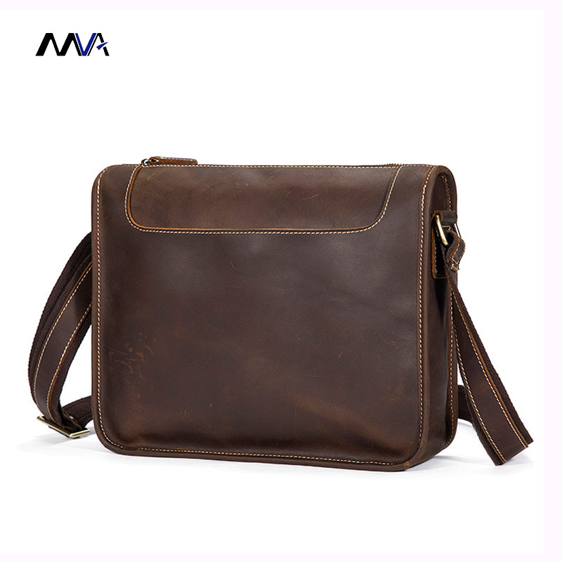 MVA Men Genuine Leather Shoulder Bag Messenger Bags Crazy Horse Leather Male Crossbody Bags for Man Handbag Casual men and women bag genuine leather man crossbody shoulder handbag men business bags male messenger leather satchel for boys