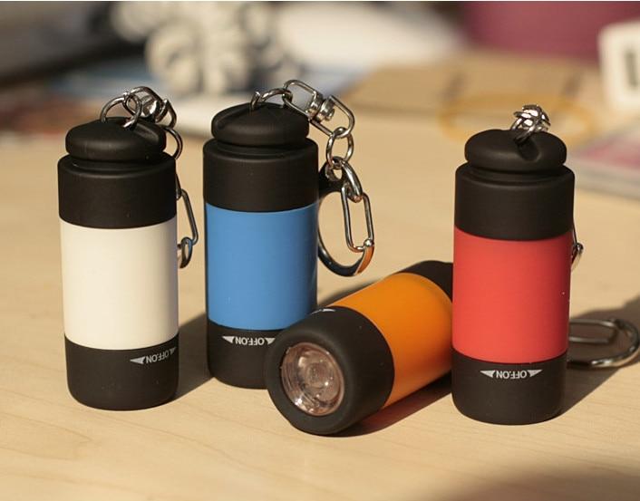 Free shipping 1PCS LED mini flashlight USB charging Outdoor small flashlight keychain lights