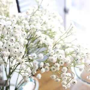Image 4 - 90 Heads Artificial  Flowers  False Babys Breath Gypsophila Wedding Decoration Birthday DIY Photo Props Flower Heads Branch