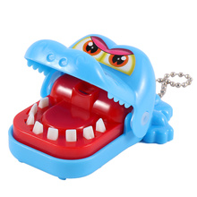 Hot Sale New Creative Small Size Crocodile Mouth Dentist Bite Finger Game Funny Gags Toy For Kids Play Fun