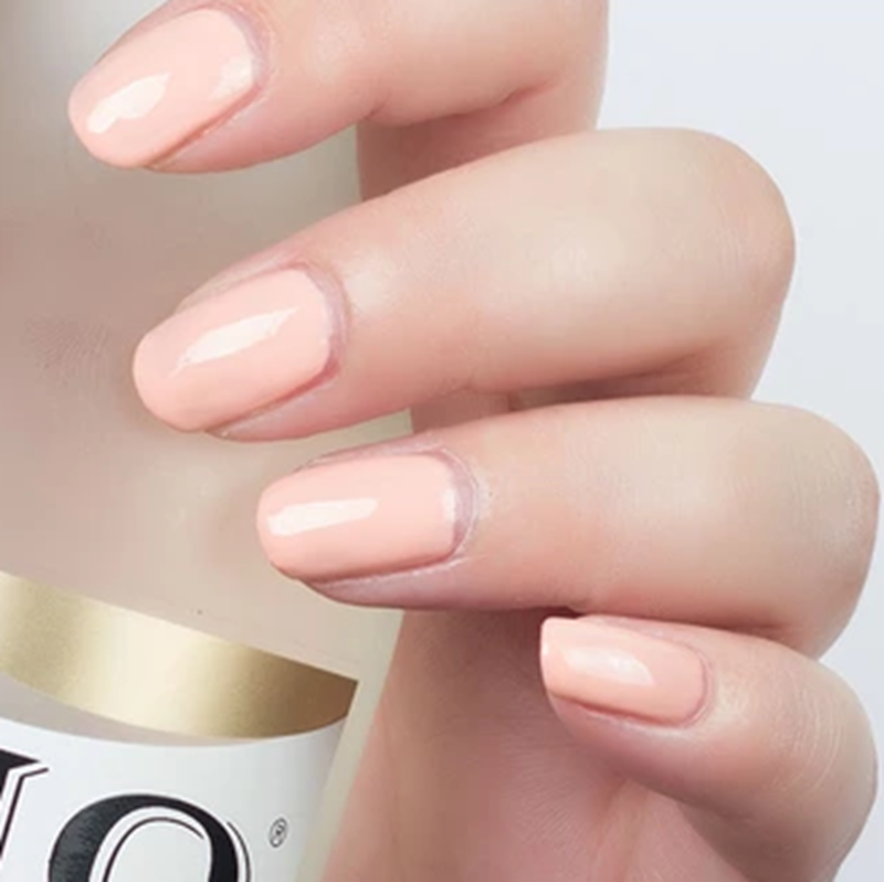 Us 0 91 23 Off Artificial Flat Fake Nails Light Orange Candy Color Square Short Nail Full Wrapped Tips Salon Product 24pcs P58 In False Nails From