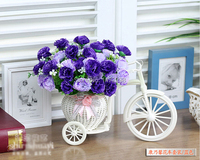 Float Artificial Silk Carnation Flower Wedding Fake Colorful Tricycle Home Garden Decoration