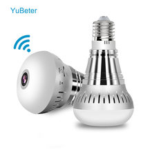 YuBeter 1080P 360 Degree WiFi IP Camera Panoramic Camera Bulb Fisheye HD Surveillance Baby Monitor Night Vision Two Way Audio(China)