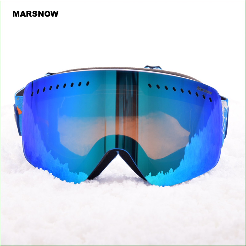 M182 ski goggles double layers UV400 anti fog big ski mask glasses skiing snowboarding snow goggles