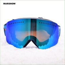 M182 ski goggles double layers UV400 anti-fog big mask glasses skiing snowboarding snow