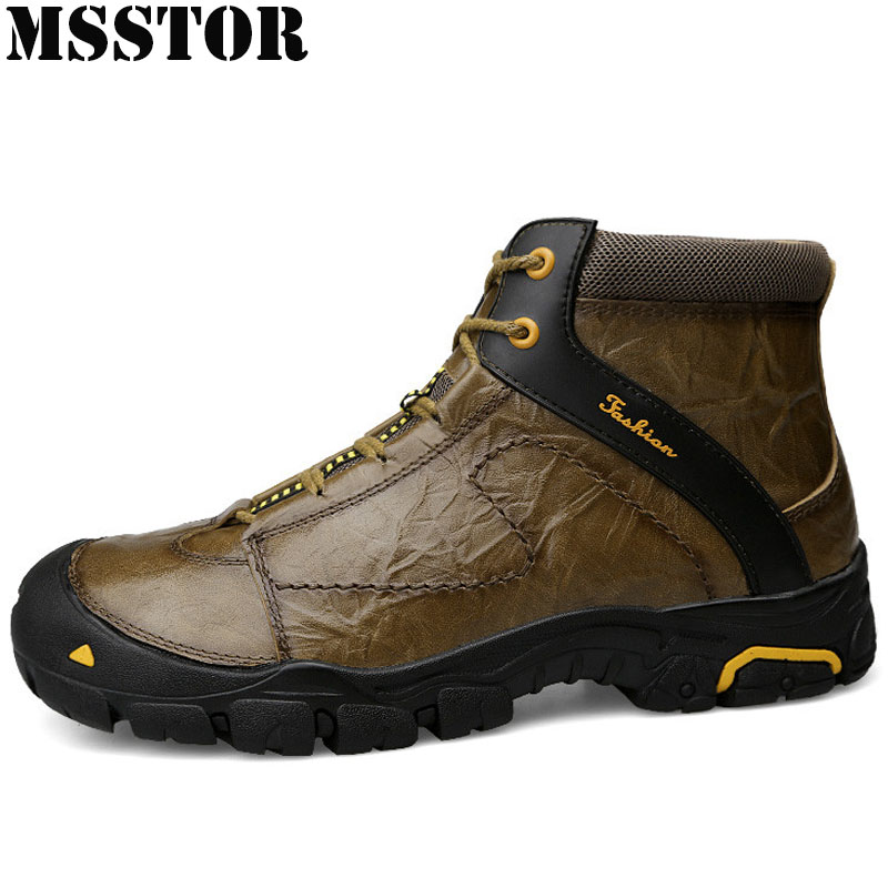 MSSTOR 2018 Men Hiking Shoes Man Brand Outdoor Athletic Hiking boots Hunting Trekking Mens Sneakers Climbing Sport Shoes For Men 2017brand sport mesh men running shoes athletic sneakers air breath increased within zapatillas deportivas trainers couple shoes
