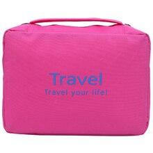Fashionable Korea waterproof travel cosmetic bags wash men  storage capacity portable handbag women