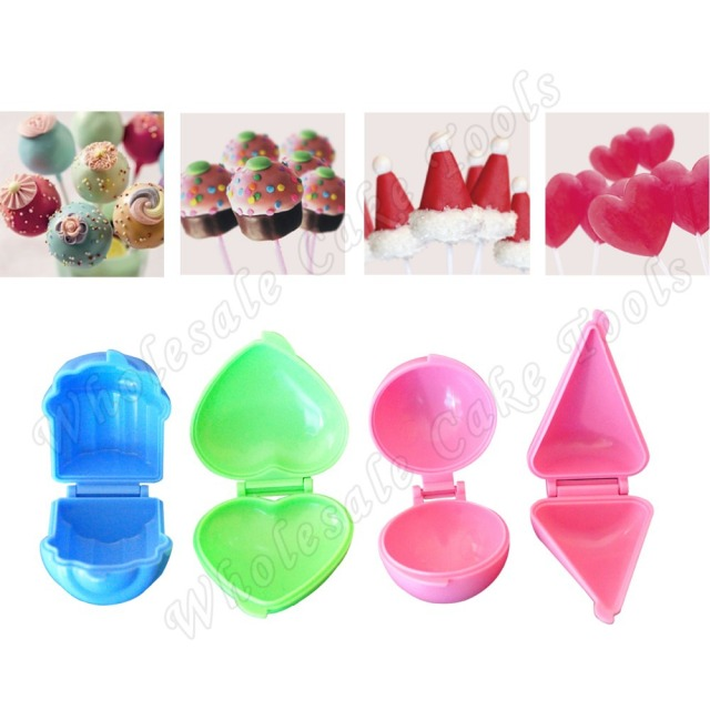 4 In 1 Plastic Candy Mould Set Chocolate Mold Newest Cake