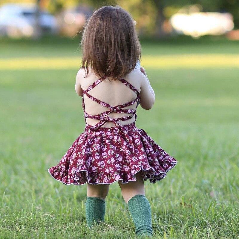 MILANCEL 2018 New Summer Dresses Sleeveless Baby Girls Clothing Cotton Children Dress Floral Baby Clothes Girls Party Dress milancel 2018 new summer dresses