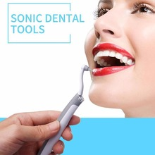 Electric Teeth Cleaner Ultrasonic Dental Toothpick Calculus Remover Whitening Cleaning Tool Kit With LED Light